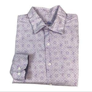 BF286 Tasso Elba Paisley Print Button Shirt XL